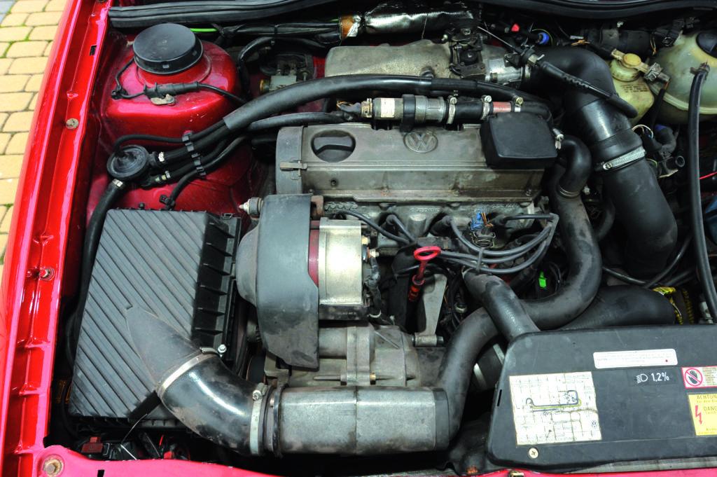 Tuning-Corrado-G60-silnik bez osłony