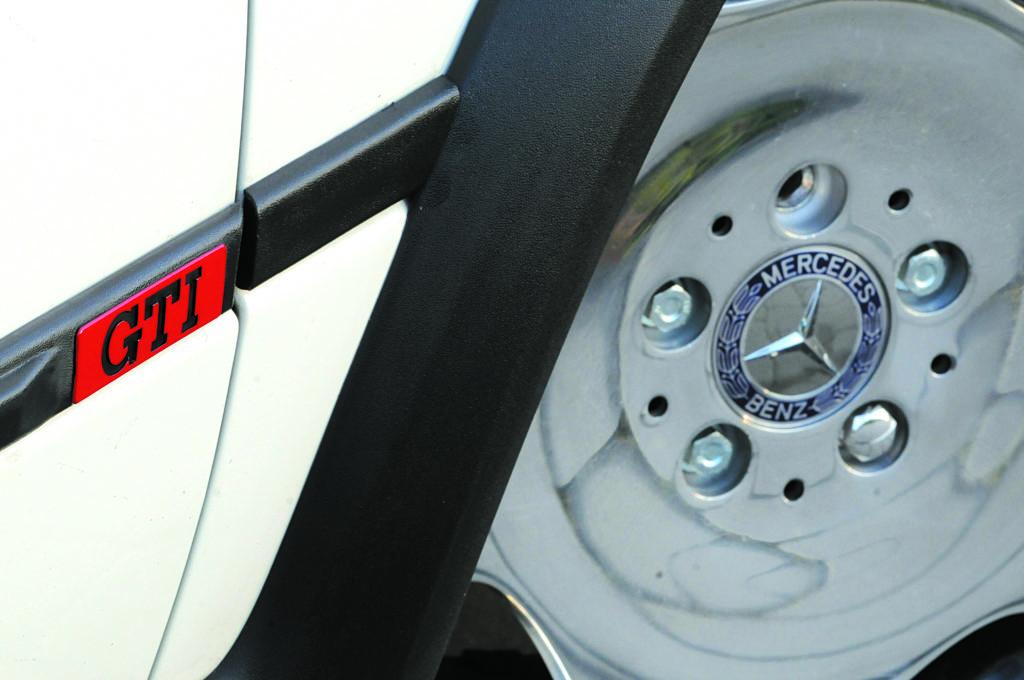 Tuning-VW-Golf-2-G60-17 calowa felga z Mercedesa S