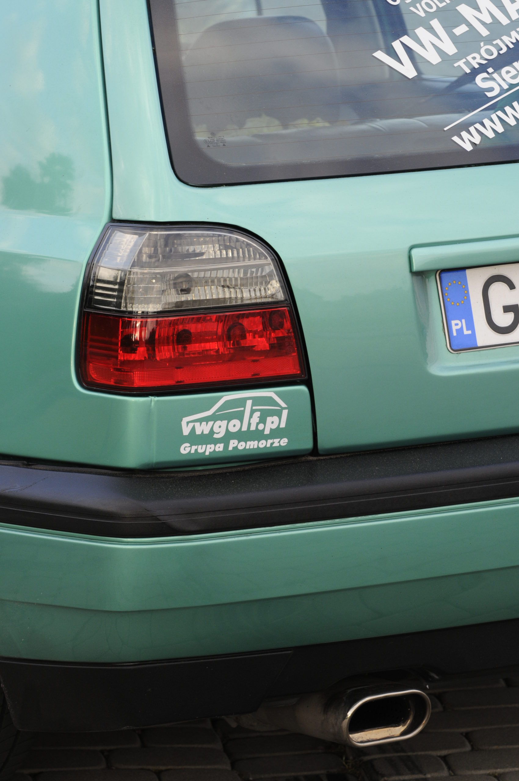 Tuning-VW-Golf-3-GL-tylna lampa