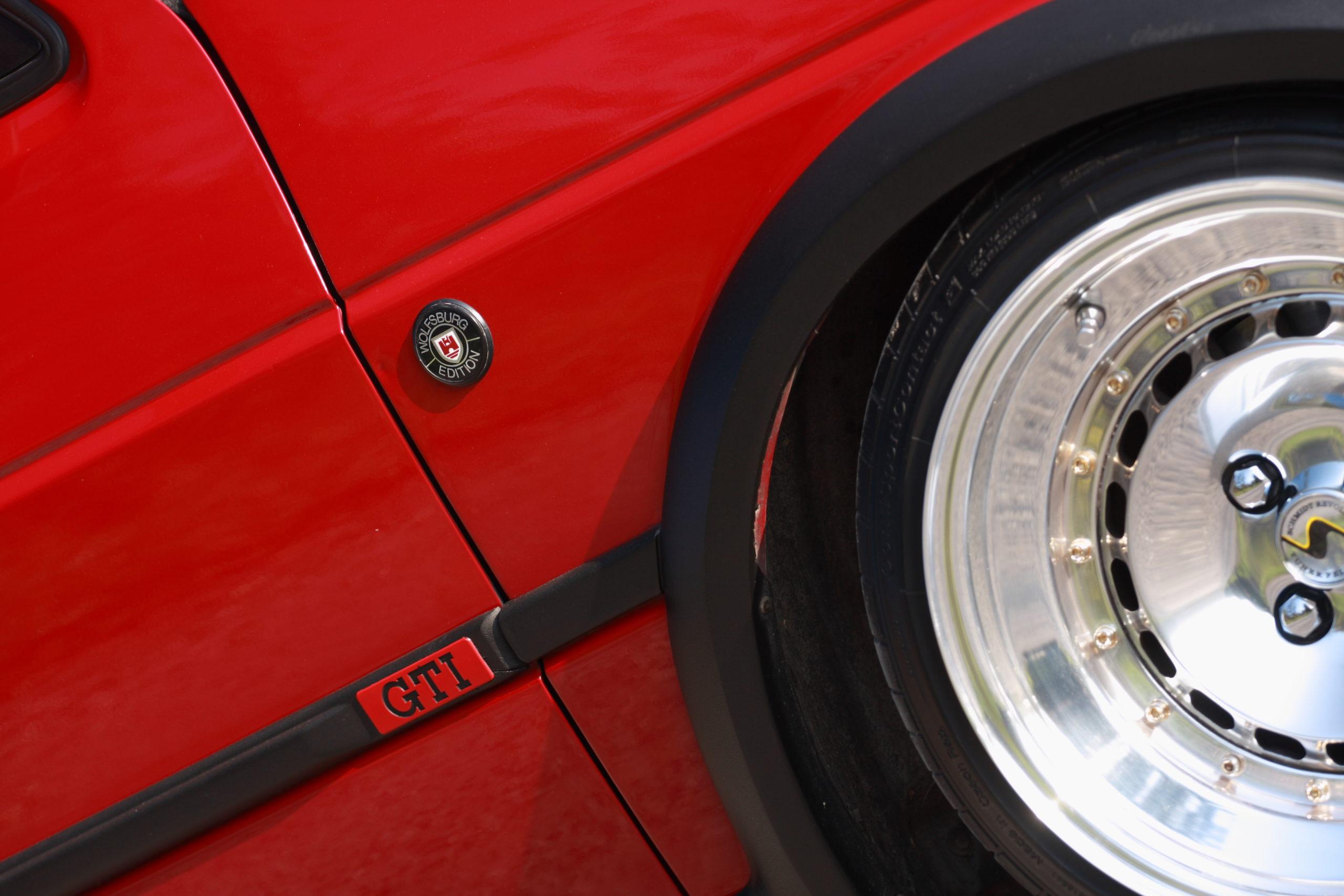 Tuning-VW-Golfa-Mk2-spasowanie koła i nadkola