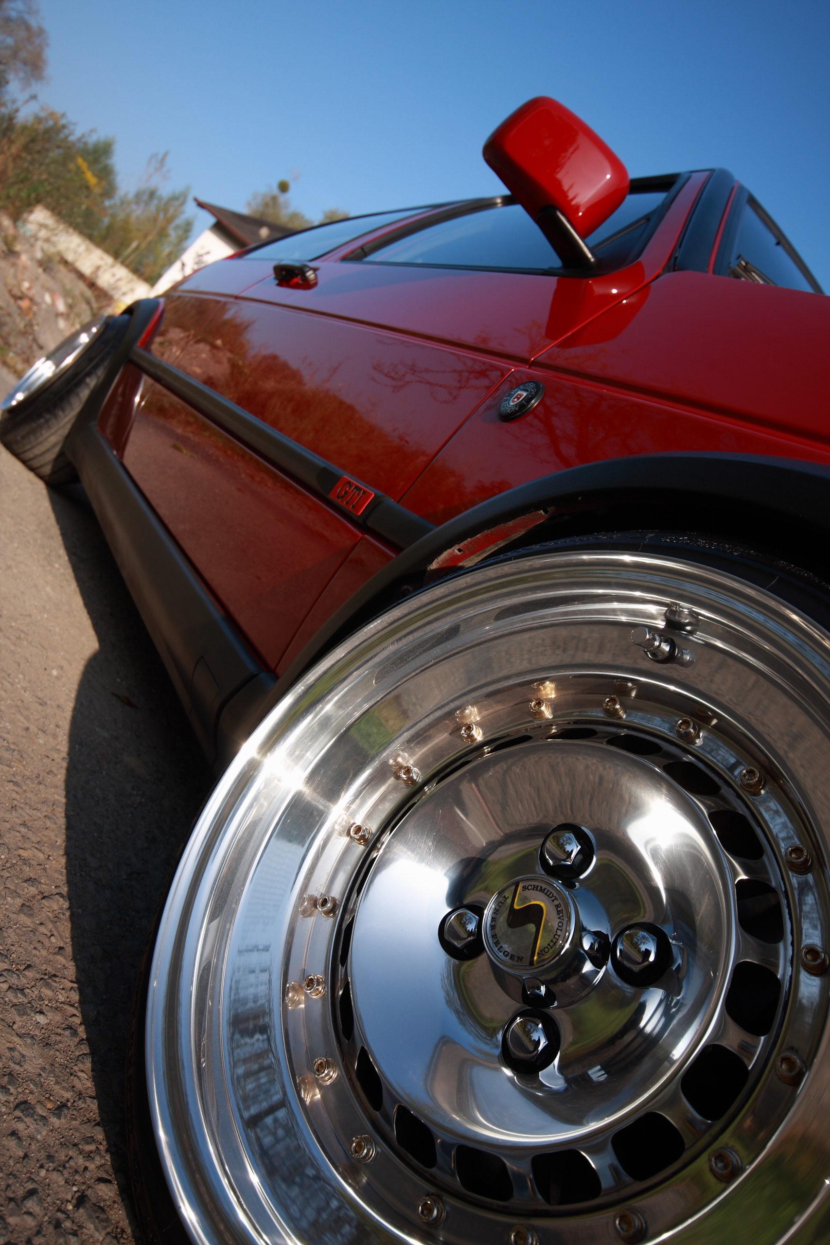 Tuning-VW-Golfa-Mk2-polerowna felfa schmidt